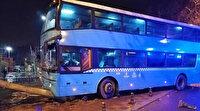 Halk otobüsü durağa daldı: Üçü ağır beş kişi yaralı