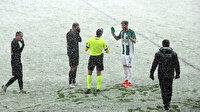 Giresunspor-İstanbulspor maçına kar engeli