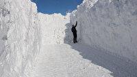 5 metreyi geçen kar tünelleri görenleri şaşırttı