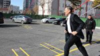 Milli Eğitim Bakanı Selçuk kendisine seslenen öğrencileri görünce yanlarına koştu