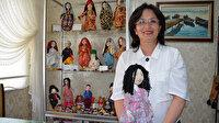 Torununu sevindirmek için yaptığı bez bebeklerle devlet sanatçısı oldu