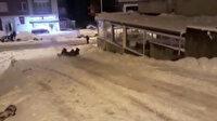 Giresun'da poşetle kayak keyfi kazayla bitti