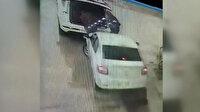 Kontrolden çıkan araç benzin istasyonuna daldı: 2 yaralı
