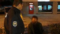 Polisin yakaladığı dilenci namazlarını kıldığını belirterek dua okudu