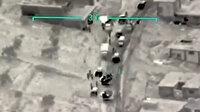 Rejim konvoyunun yok edildiği anlar kamerada