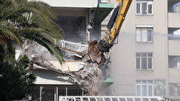 İzmir'deki yatık binalarda ilk yıkım başladı