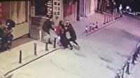 Kuyumcu kuryesine gasp girişimi: Kocasını gaspçılardan kurtardı