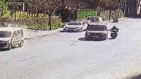 Aracı motosikletli kuryenin üzerine sürdü: Kurye ölümden döndü
