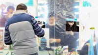 Nöbetçi eczanede 'şeffaf branda' ile koronavirüs önlemi