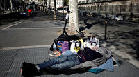 Sokağa çıkma yasağının uygulandığı Fransa'da polis evsizlere ceza kesti