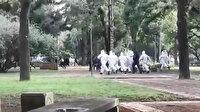 Karantinaya uymayanları polis kovaladı: Biber gazıyla müdahale ettiler