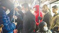 İBB'den koronaya davetiye: Yolcular bırakın sosyal mesafeyi adım atamıyor