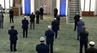 Beştepe Millet Camisi'nde korona önlemli cuma namazı