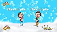 TRT Çocuk'un sevilen kahramanlarından 'el yıkama' şarkıları