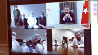 Sağlık Bakanı Koca, koronavirüs hastalarını tedavi eden hekimlerle görüştü