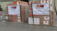 Türkiye'den İspanya ve İtalya'ya tıbbi yardım: Paketlerin üzerindeki yazı dikkat çekti