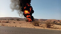 Libya'da Hafter milislerine mühimmat taşıyan kamyonlar imha edildi