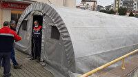 Bursa'da hastane bahçelerine triaj çadırları kuruldu: 81 ilin tamamında yapılacak