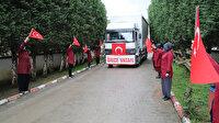 Cumhurbaşkanı Erdoğan'ın talimatı üzerine hazırlanan kolonyalar yola çıktı: İşçiler gözyaşlarını tutamadı