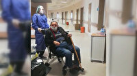 Koronavirüsü yenen 84 yaşındaki adam alkışlarla taburcu edildi: Sağlık çalışanlarından helallik istedi