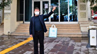 Aksaray Belediyesinden drone ile kapıya teslim maske ve eldiven