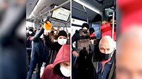 İETT koronavirüse davetiye çıkarıyor: Otobüsler yine tıklım tıklım!