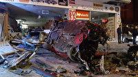 Kaldırıma çarpan otomobil, ayakkabı mağazasına girdi: 5 yaralı