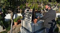 Evden çıkamayınca şehit oğlunun mezarını 'görüntülü' ziyaret etti