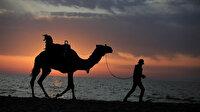 Gazze'de gün batımı kartpostallık manzaralar ortaya çıkardı
