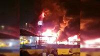 İsrail'de onlarca araç yangının ortasında kalarak küle döndü