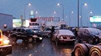 ABD'de 60 araç birbirine girdi