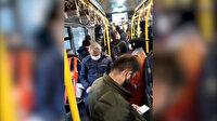 İstanbul'daki Avcılar-Söğütlüçeşme metrobüsünde çekilen görüntülere vatandaşlar isyan etti