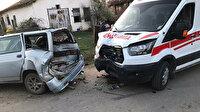 Sakarya'da akılalmaz olay: Ambulansa çarpıp sağlık çalışanlarını darp etti