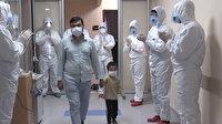 Koronavirüs mücadelesini kazanan 3 yaşındaki çocuk alkışlarla taburcu edildi