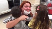 Bir aydır evlatlarını görmeyen sağlıkçıların çocuklarına kavuşma anı