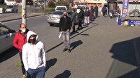 İstanbullular Ramazan pidesi sırasında sosyal mesafe kuralına uydu