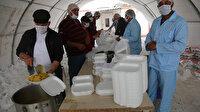 İHH savaş mağdurlarına iftarda sıcak yemeği dağıttı