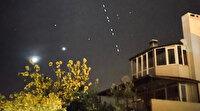 Ayvalık'ta Elon Musk'ın Starlink uydularının geçişi net olarak izlendi