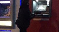 Babasına kızan kadın ATM'leri böyle parçaladı