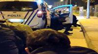 Silahlı çatışmanın görüntüleri ortaya çıktı: İki polis şehit edilmekten böyle kurtuldu