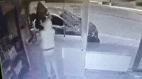 Tekirdağ'daki televizyon hırsızlığı güvenlik kamerasında