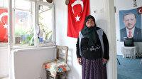 Behice teyze yardım değil Cumhurbaşkanı Erdoğan'ın posterini istedi