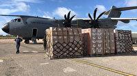 Somali'ye tıbbi yardım malzemesi taşıyan uçak Mogadişu'ya iniş yaptı