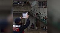 Jandarma 'Trafik Timleri'nden vatandaşlara balkondan eğitim