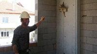 Kumru yuvasını bozmak istemeyen inşaat işçileri çalışmayı durdurdu
