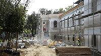 Sultan 2. Abdülhamit tarafından yaptırılan tarihi Hadımköy Askeri Hastanesi'nde çalışmalar hız kesmeden devam ediyor