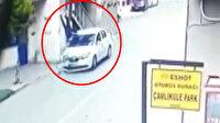 Çöp atmak için dışarı çıkan polise aracıyla çarpıp kaçtı