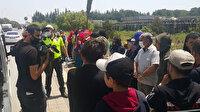 Adana'da polisin durdurduğu 14 kişilik araçtan 35 kişi çıktı