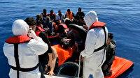 Yunan sahil güvenliğinin Türk karasularına bıraktığı 30 göçmen kurtarıldı