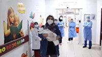 23 günlük bebek koronavirüsü yenerek taburcu oldu